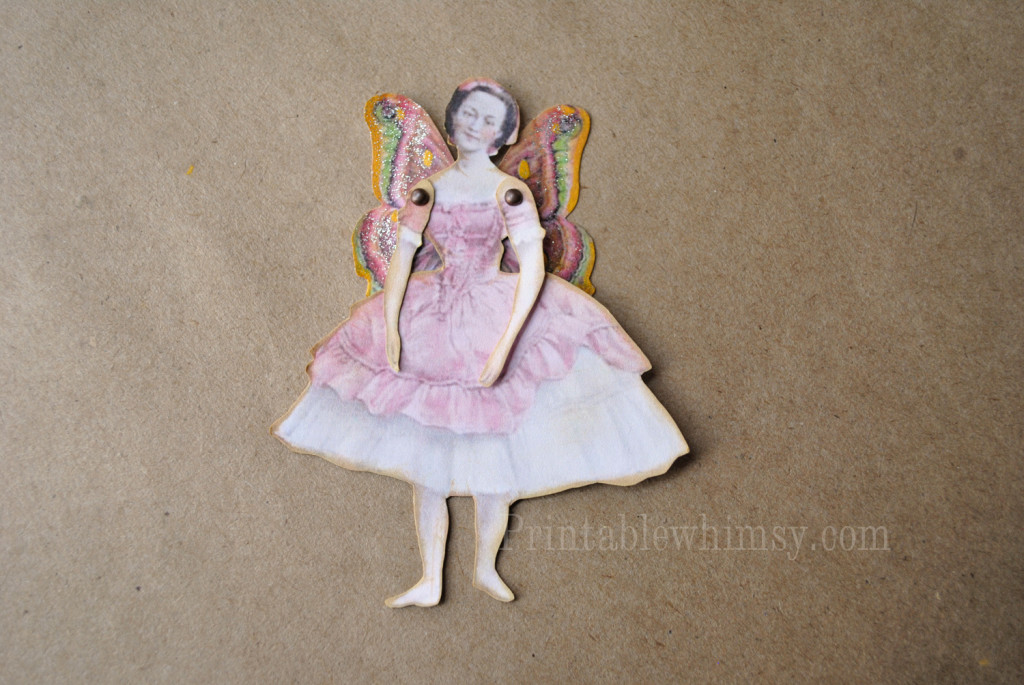 vintage printable fairy paper doll